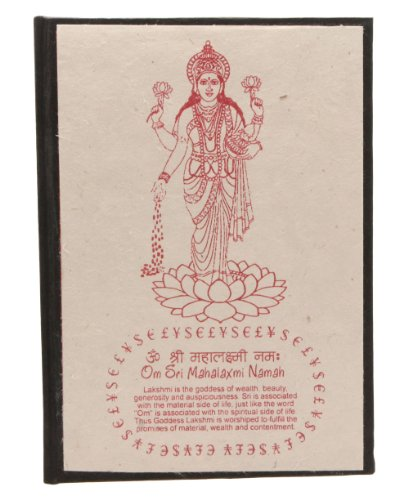 Handmade and Fair-trade Hindu Goddess Lakshmi Journal