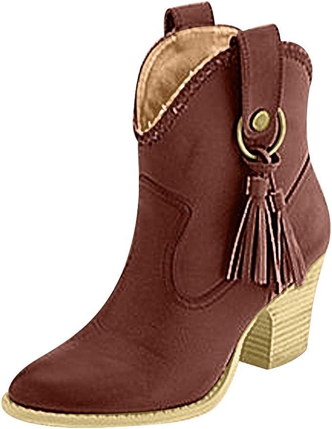 Posional Botas Cortas Para Las Mujeres Planas, Zapatos De Punta ...
