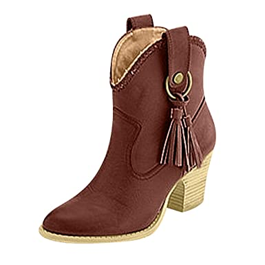 f58a55b5432 Amazon.com: 2019 New Womens Fashion Suede Short Boot,Autumn Outdoor ...