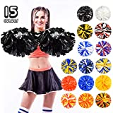 ANALAN 15 Colors 2 Pack Plastic Cheerleading Pom Poms for Adults Kids Cheer Sports Dance