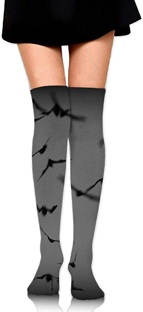 High Elasticity Girl Cotton Knee High Socks Uniform Bracken Bat Cave Moon Women Tube Socks