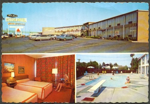 Towne House Motor Hotel East Paterson NJ postcard - Towne East