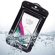 For LG G4 Case, SumacLife Universal Cellphone Waterproof Case, Black Waterproof Case for 5.5-inch Cellphones (Black/Black)