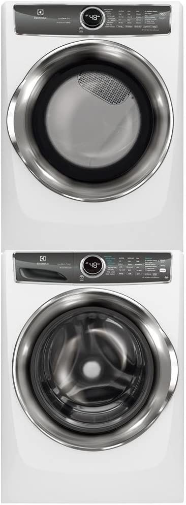 Electrolux White Front Load Laundry Pair with EFLS627UIW 27