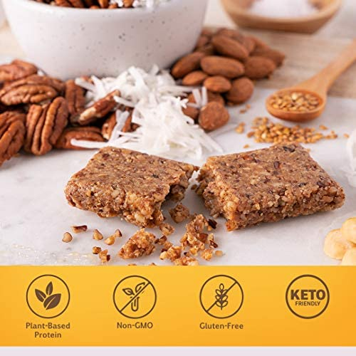 Fast Bar , Nuts & Honey, Gluten Free, Plant Based Protein Bar For Weight Management & Intermittent Fasting (10 Count Box) 5