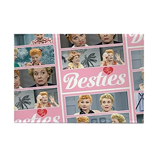 CafePress I Love Lucy: Besties Pattern Rectangle Magnet, 2