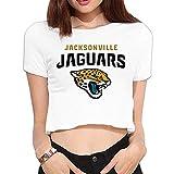 MEGGE Female Jacksonville TEAM Jaguars Leisure Crop Top White