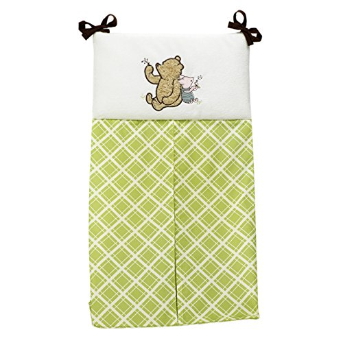 Disney Baby My Friend Pooh 4 Piece Nursery Crib Bedding Set, Green, Brown, White