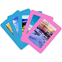 """UCMD Picture Frames on Fridge Decorative Magnet Photo Frame for 6"""" x 4"""" Photo Size (pink, blue) Pack of 5 pieces"""