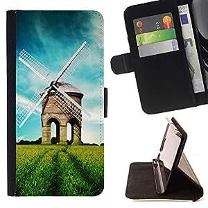 For Samsung Galaxy S6 Active G890A Case , Naturaleza Hermosa Forrest Verde 39- la tarjeta de Crédito Slots PU Funda de cuero Monedero caso cubierta de piel