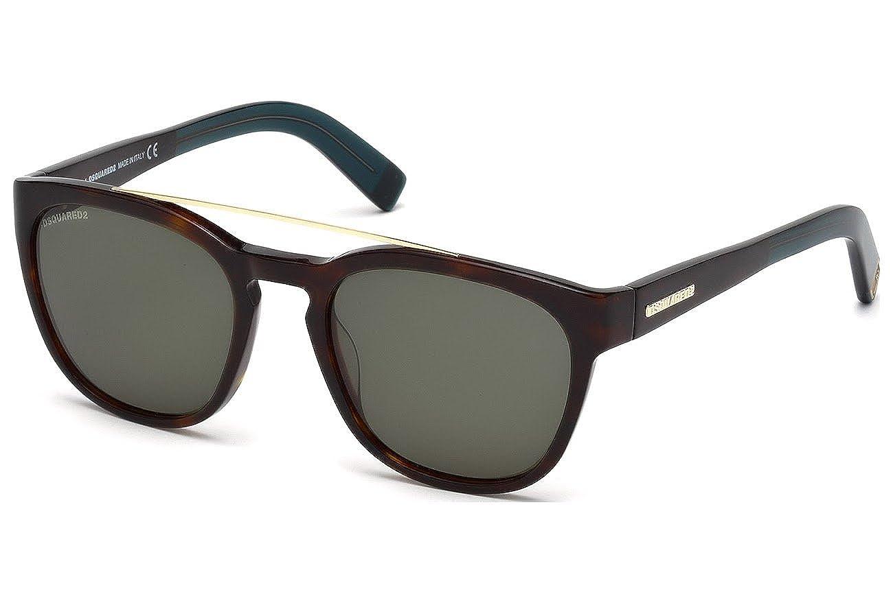 Amazon.com  Sunglasses DSquared2 DQ 164 DQ0164 52N dark havana   green   Clothing 1484f6928b6