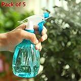 Spray Bottle, Gotd Empty Spray Bottle Plastic Watering The Flowers Water Spray For Salon Plants (Blue 5pack)