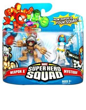 - Marvel Superhero Squad Series 10 Mini 3 Inch Figure 2-Pack Weapon X and Mystique