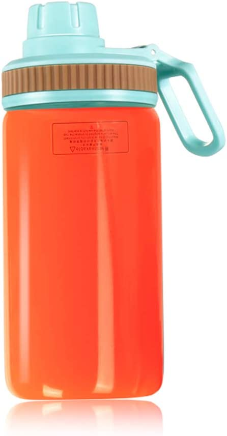 iOCSmart 400ml Sports Travel Bottle with Cup Lid for Portable Personal Blender (Blue)