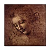 Female Head By Leonardo DaVinci Tile Trivet