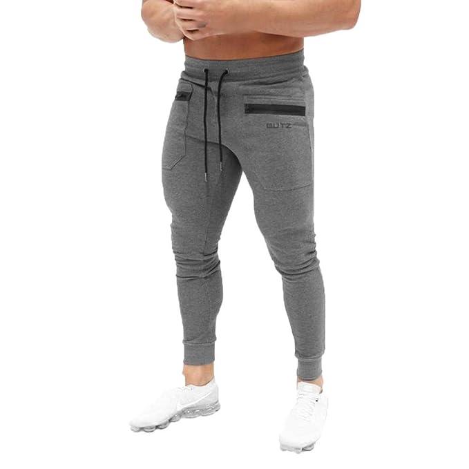 Hombre Puro Color Cinturón de Cintura elástico Pantalones de chándal de  algodón Largo Jogging Pantalones de Carga Deportiva de Talla Grande  Pantalones ... a8cd738c9a36
