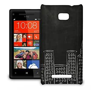 Phone Case For HTC 8X - Chalk City Slim Cover