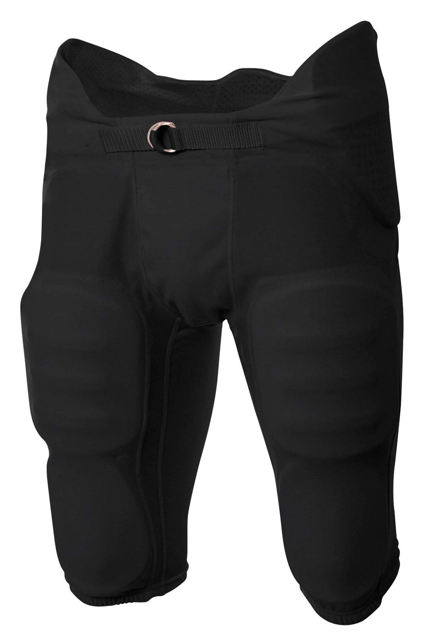 A4 Boy's Flyless Integrated Football Pant Black
