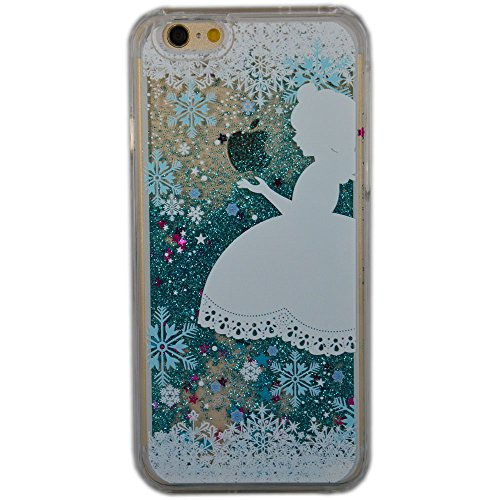 iPhone SE Case, SwiftBox Flowing Liquid Floating Bling Glitter Sparkle Stars Hard Case for iPhone 5 5S SE with 0.3mm Tempered Glass Screen Protector + Owl Phone Strap (Angel and Snowflakes)