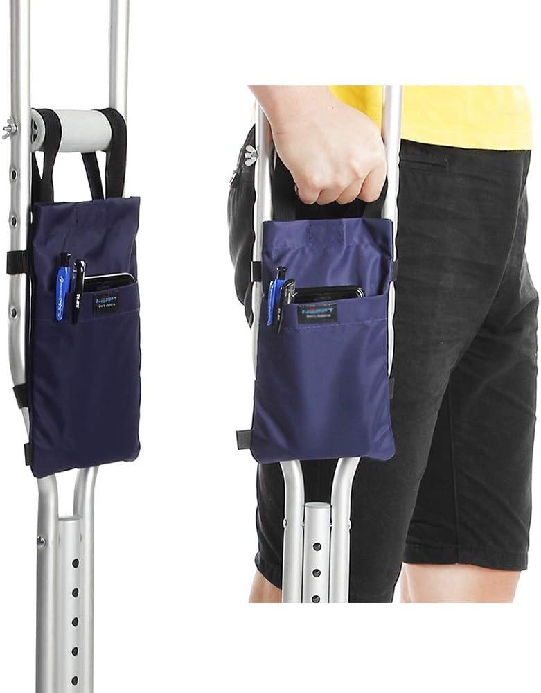 Crutch Bag Pouch Leg Medical Crutch Caddy Pocket for Crutches Accessories Carry Bag Handgrips Orthopedic Broken Leg Crutch Cup Drink Holder Tote Bag