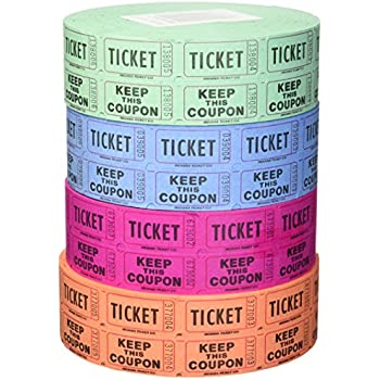 amazon com 56759 raffle tickets 4 rolls of 2000 double tickets
