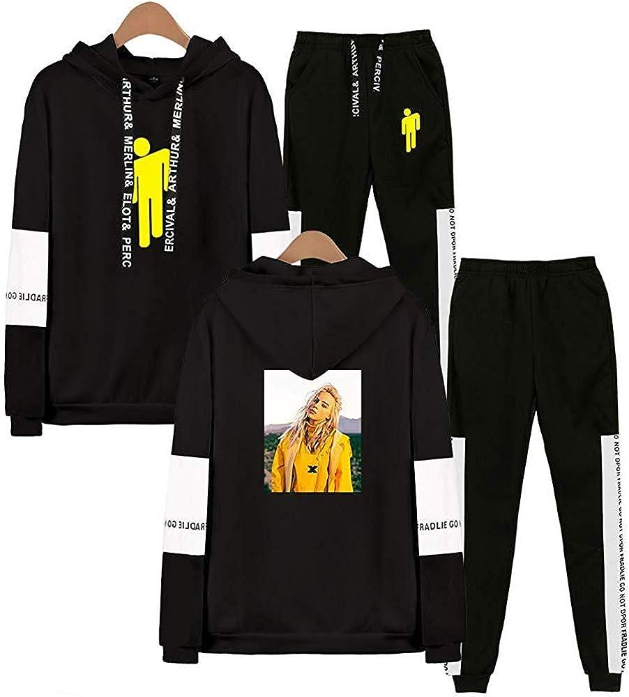 URMOSTIN Imprim/é Billie Eilish Unisexe Ensemble Surv/êtement Surv/êtement /à Capuche Sweat Pantalon Casual Tenue de Sport Jogging 2 Pi/èces Manches Longues Outwear