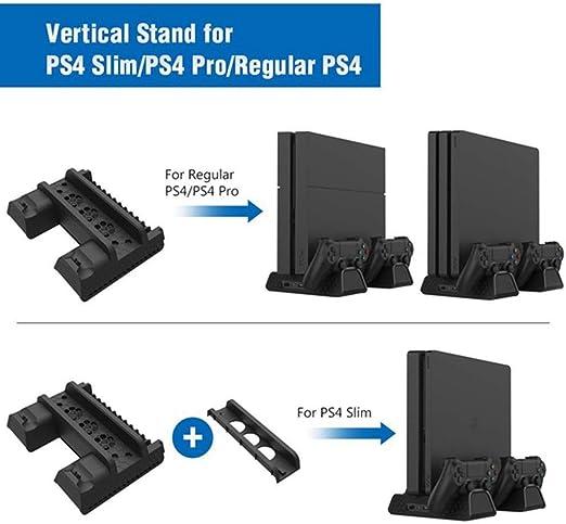 PS4 ventilador de refrigeración vertical con soporte y dos ...