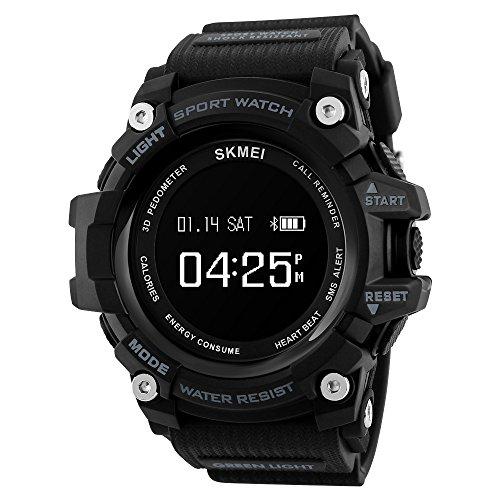 SKMEI Men's Military Black LCD Digital Sport Watch - 5