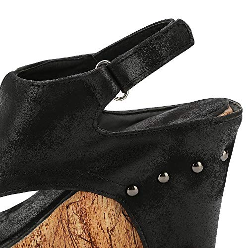 Marron Chaussure Espadrilles 43 Femme Plateforme Sandales 34 Cuir Legere Noir Beige Compensées Ouvert Été Bout Plage Bohême Chic Romaines Dames q1wCAwT6