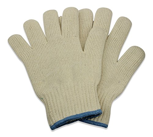 Oven Gloves - Set of 2 - Heat Resistant Mitt Sets by Eternal (Commercial Safe White Glove)