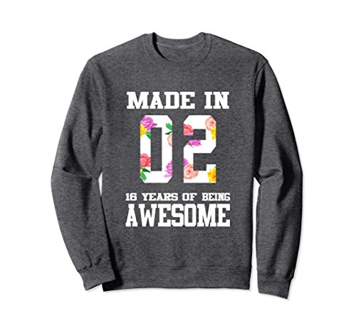 Unisex Sweet Sixteen Birthday SweatShirt for Teenager Girls Large Dark Heather ()