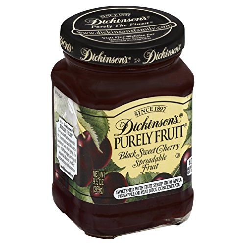 Dickinson's Purely Black Sweet Cherry Spreadable Fruit, 9.5 oz