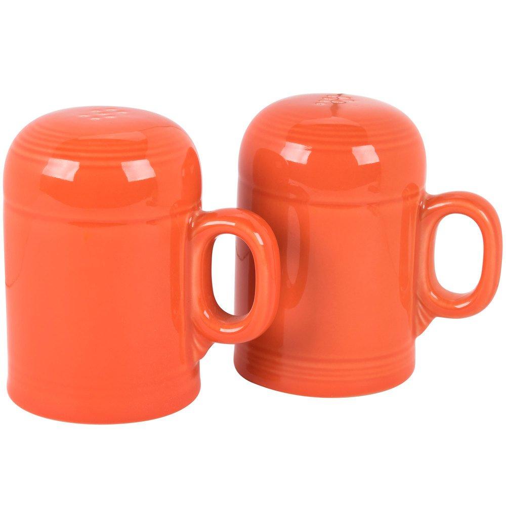 Homer Laughlin 756338 Fiesta Poppy Rangetop Salt and Pepper Shaker Set - 4/Case