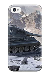 TYH - Hard Plastic Iphone 4/4s Case Back Cover,hot World Of Tanks King Tiger Case At Perfect Diy ending phone case