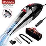 Fypet Car Vacuum, 5000pa/5m High Power Corded Car Vacuum Cleaner for Quick Car Cleaning with LED Light,DC 12V Portable Auto Vacuum Cleaner
