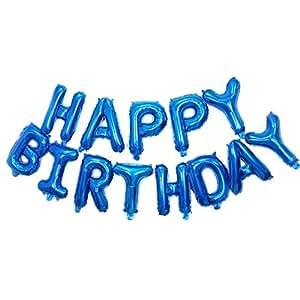 Amazon.com: c-spin 16 o 40 inch feliz cumpleaños globos de ...