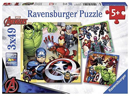 Ravensburger Marvel Avengers Assemble, 3X 49pc Jigsaw Puzzles]()