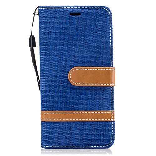 TOCASO Funda de Cuero Samsung Galaxy A3 2016 A310 Funda Piel para con Tapa Samsung Galaxy A3 2016 A310 [Garantía de por vida] Soporte Plegable Ranuras para Tarjetas y Billetes Estilo Libro Cierre Magn Vaquero Azul
