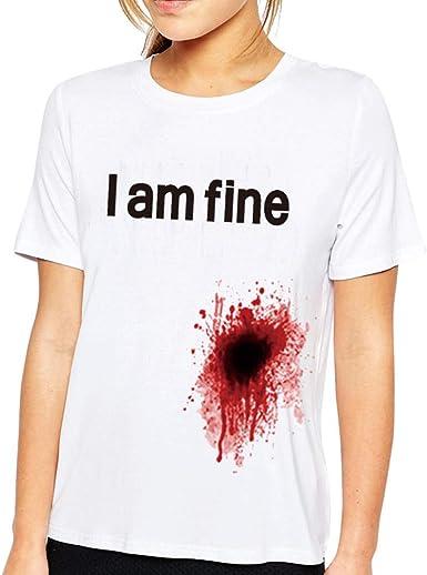 Goodserver Estoy Bien Camiseta Estoy Bien Sangrienta Herida ...