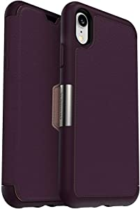 OtterBox Strada Series Case for iPhone Xr - Retail Packaging - Royal Blush (Winter Bloom/Cameo Rose)