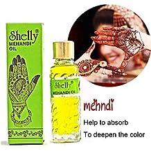 OOFAYZBL Shelly Mehandi Henna Oil Mehndi for Darkening Henna - Body Paint At Kit Tatto