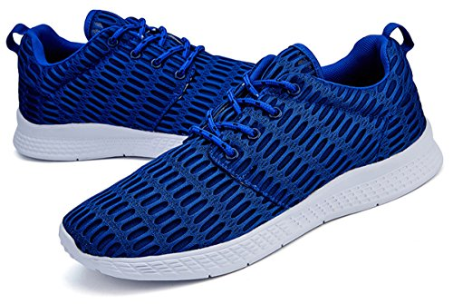 Sneakers Casual Jeneet for Athletic Running Mens Womens Blue Mesh Shoes Breathable T1pnRwxEq
