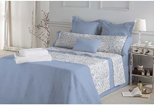 Don Algodón.- Juego de sabanas Emmy color Azul para cama de 90 ...