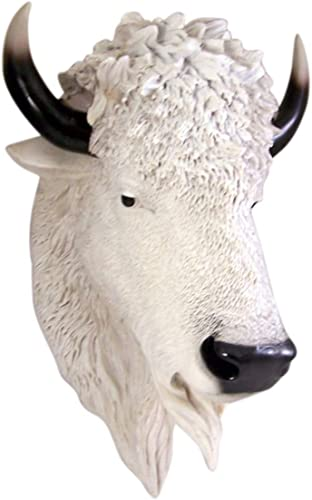Wowser White Buffalo Head Wall Mount 18 1/2 Inch