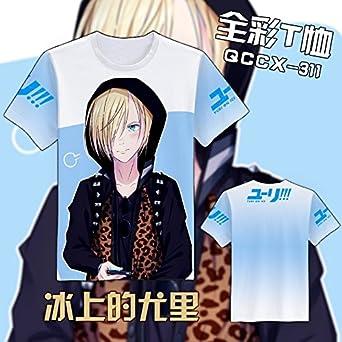 Amazon Com Anime Yuri On Ice T Shirt Short Sleeve T Shirts Cosplay