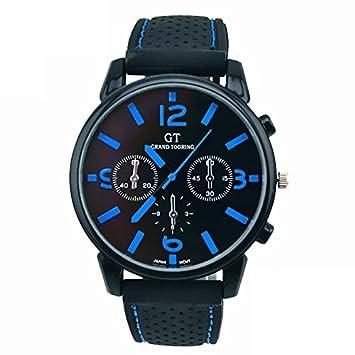 Kycut - Reloj analógico de cuarzo para hombre (1 pieza, acero inoxidable): Amazon.es: Belleza