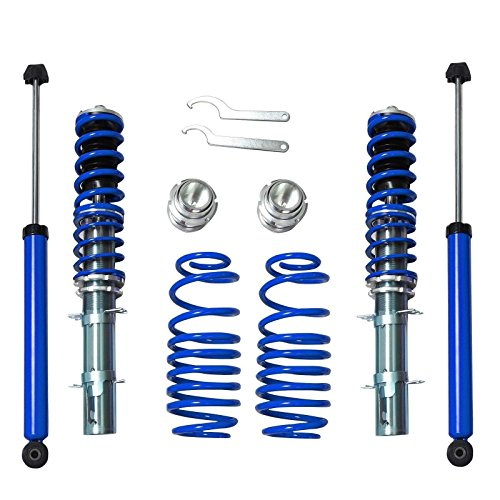Golf Jetta New Beetle - RSK Street Coilover Kit for 1999-2005 VW MK4 Golf Jetta GTI New Beetle (Blue)