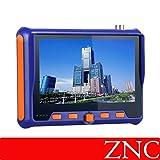 ZNC 5 Inch 4 in 1 HD CCTV Tester TVI AHD CVI CVBS Video Monitor Tester Analog Video Test BNC UTP Cable Test VGA Input DC12V Output Camera Tester