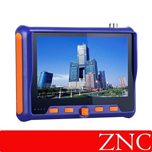 ZNC 5 Inch 4 in 1 HD CCTV Tester TVI AHD CVI CVBS Video Monitor Tester Analog Video Test BNC UTP Cable Test VGA Input DC12V Output Camera Tester by ZNC