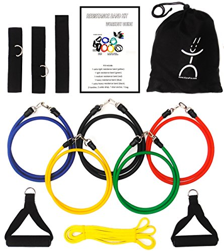 ICorePro Resistance Band Kit Bundle with Power Band and Accessories